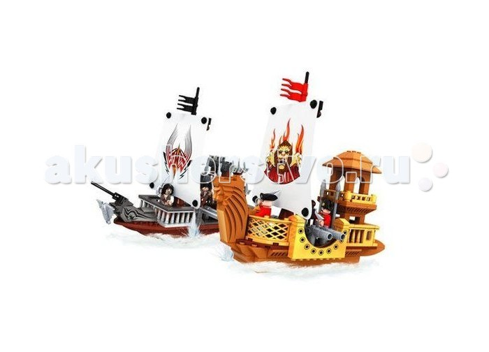 Конструктор Ausini серии Пираты 438 деталей
