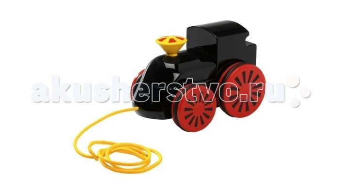 Каталка-игрушка Brio Паровоз на веревочкеПаровоз на веревочкеКаталка-игрушка Brio Паровоз на веревочке замечательная деревянная игрушка для детей от 1 года.  К каталке прилагается веревочка, за которую ребенок сможет тянуть игрушку во время игры. При движении поезда труба вращается синхронно с колёсами  Игрушка изготовлена из качественных материалов, безопасных для здоровья детей.<br>