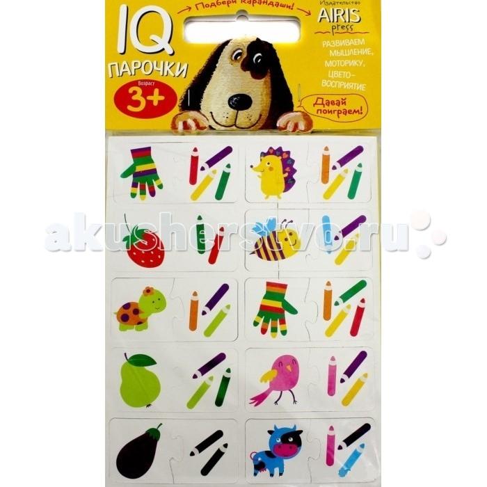 Айрис-пресс Мягкие игры Парочки Подбери карандашиМягкие игры Парочки Подбери карандашиАйрис-пресс Мягкие игры Парочки Подбери карандаши  IQ-Парочки «Подбери карандаши!» – это увлекательная настольная игра для тренировки способности ребёнка к восприятию цвета и цветовых сочетаний, развития воображения, логики и моторики Набор состоит из 40 объёмных карточек, на которых изображены предметы и карандаши Карточки сделаны из мягкого, прочного и безопасного материала EVA Они удобно ложатся в детскую ручку и отлично подходят для познавательных игр Цель игры: составить пару предмет — карандаши, которыми он нарисован Карточки снабжены пазловыми замками для того, чтобы ребёнок мог самостоятельно оценить правильность выполнения заданий На упаковке набора даётся описание, как играть с мягкими карточками Предназначен для детей от 3 лет.  Страниц: 2 Размер: 170 х 220 мм<br>