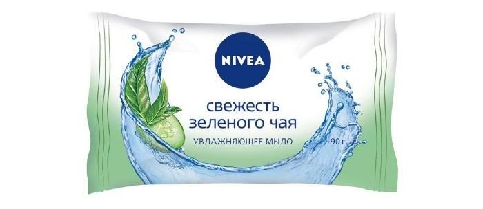 Nivea Мыло-уход Огурец и зеленый чай 90 г