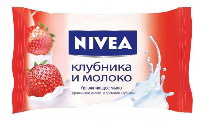 Nivea Мыло-уход Клубника и молоко 90 г