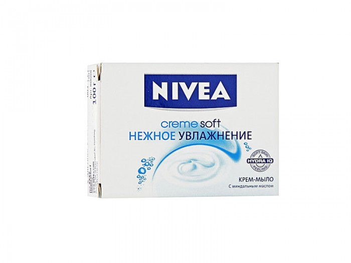 Nivea Крем-мыло Нежное увлажнение 100 гКрем-мыло Нежное увлажнение 100 гМыло от Nivea - это сочетание натуральных экстрактов, ухаживающих за кожей, и формулы Hydra IQ, которая увлажняет кожу, предотвращая ее пересыхание.   Входящее в состав миндальное масло бережно очищает кожу от загрязнения. Эффект заметен уже после первого применения. Мыло дает обильную пену мягкой консистенции.  Особенности: Входящие в состав масло миндаля бережно, но эффективно очищают кожу от загрязнений. Мыло имеет приятный аромат. pH-нейтрально. Одобрено дерматологами. Товар сертифицирован.  Nivea является одной из ведущих мировых компаний в области средств по уходу за кожей. Nivea заботится о потребителях, предлагая им совершенные и инновационные продукты. В исследовательском центре компании работает более 150 специалистов в области дерматологии и косметологии, фармакологии и химии. Косметическая продукция совершенствуется благодаря регулярным лабораторным исследованиям и многочисленным тестам.<br>