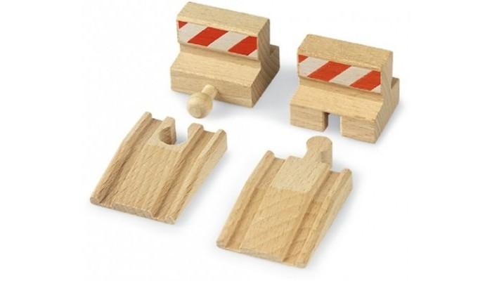 Brio Железная дорога подъемы и тупики 4 шт.Железная дорога подъемы и тупики 4 шт.Brio Железная дорога подъемы и тупики 4 шт. Элементы подъемы и тупики помогут сконструировать свою собственную игровую ситуацию с железной дорогой.   В состав набора входят очень важные и полезные элементы - два тупика и два съезда с полотна деревянной железной дороги Brio. С их помощью можно не только придать законченный вид отводным участкам деревянных рельс, но и обеспечить возможность съезда с деревянного полотна дороги на пол пассажирских и грузовых составов, что позволит значительно разнообразить игру.<br>
