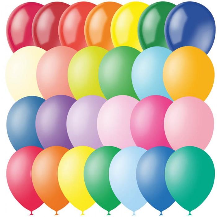Поиск Воздушные шары ассорти пастель + декор 100 шт.