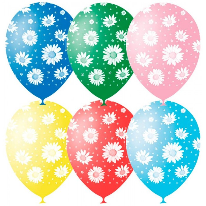 Поиск Воздушные шары Ромашки пастель 25 шт.Воздушные шары Ромашки пастель 25 шт.Набор цветных воздушных шариков с рисунком для праздника. Яркие шарики диаметром до 30 см отлично подойдут для украшения. В наборе 25 шаров.<br>