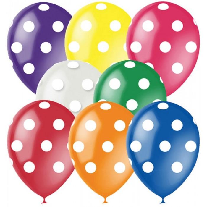 Поиск Воздушные шары Горошек ассорти 8 цветов 25 шт.Воздушные шары Горошек ассорти 8 цветов 25 шт.Набор цветных воздушных шариков с рисунком для праздника. Яркие шарики диаметром до 30 см отлично подойдут для украшения. В наборе 25 шаров.<br>