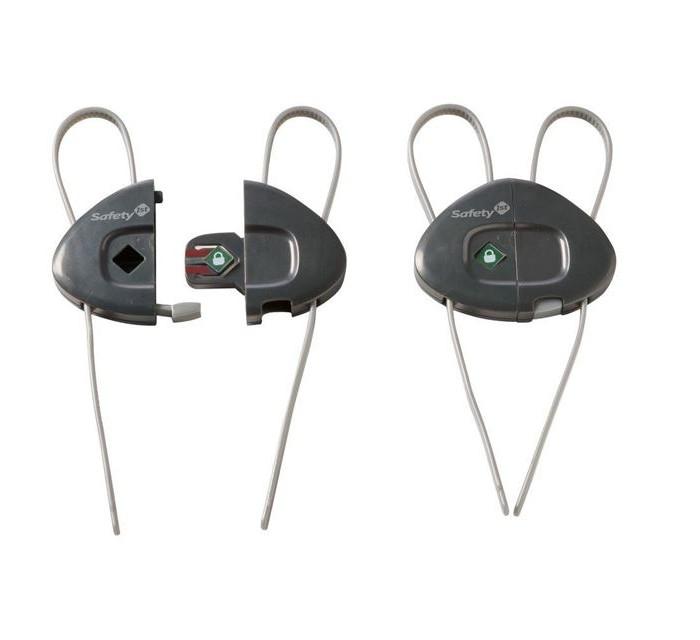Safety 1st Блокирующее устройство для шкафов 33110038Блокирующее устройство для шкафов 33110038Помогут зафиксировать дверцы шкафчика так, чтобы малыш не мог без надобности заглянуть внутрь и при этом поранить свои пальчики.<br>
