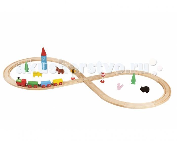 Balbi Железная дорога WT-052 (32 детали)