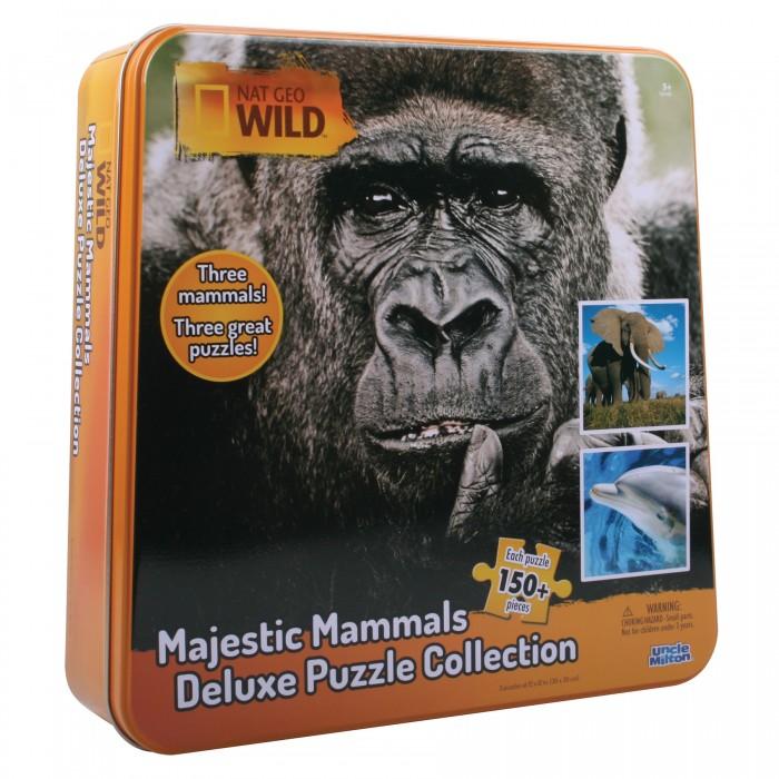 Uncle Milton Пазл 3 в одном в жестяной коробке Nat Geo Wild Games &amp; Puzzles 16446 150 элементовПазл 3 в одном в жестяной коробке Nat Geo Wild Games &amp; Puzzles 16446 150 элементовПазл 3 в одном (величественные млекопитающие: слон, горилла и дельфин) в жестяной коробке Nat Geo Wild Games & Puzzles  Пазл 3 в одном (величественные млекопитающие: слон, горилла и дельфин) в жестяной коробке. Возраст: 5+<br>