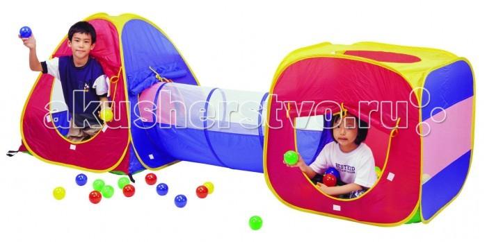 Палатки-домики Calida Дом-палатка + 100 шаров (конус+квадрат+туннель)