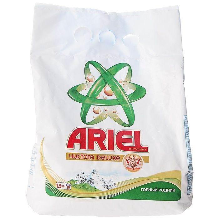 Ariel Стиральный порошок автомат Горный родник 1.5 кг