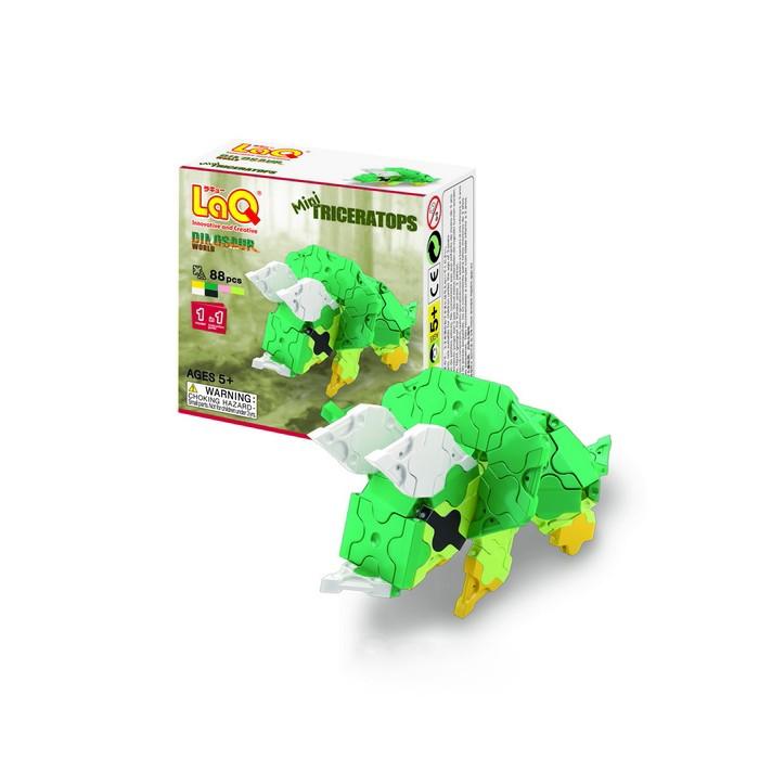 Конструктор LaQ  Dinosaur World Mini Triceratops (88 элементов)Dinosaur World Mini Triceratops (88 элементов)Конструктор LaQ Dinosaur World Mini Triceratops (88 элементов) это безграничные возможности создания плоских и объемных моделей с помощью основных видов деталей и запатентованной системы соединений. Гибкие и прочные элементы выполнены из высококачественного нетоксичного пластика ярких цветов, они легко и надежно соединяются друг с другом, образуя устойчивые конструкции, поэтому с готовой игрушкой можно играть в свое удовольствие.   В наборе представлены фигуры квадрата и треугольника, пять видов соединительных креплений.   Время, проведенное в творчестве с конструктором LaQ – это не только время радости, творчества и вдохновения, но и время для развития полезных навыков ребенка, увлекательной подготовки к школе, развития мелкой моторики рук, выработки аккуратности, усидчивости, внимательности.  В наборе 88 деталей.<br>