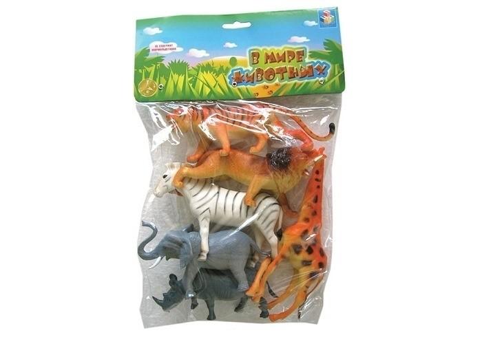 1 Toy Набор Дикие животные 6 фигурокНабор Дикие животные 6 фигурок1 Toy Набор Дикие животные 6 фигурок  Игровой набор В мире животных включает 6 представителей фауны, причем все звери разных ареалов обитания. Например, бурый медведь и лось живут в лесах и горной местности, а верблюд - в пустыне. Набор прекрасно подходит для ознакомления с различными животными, изучения их особенностей и отличий.  Все игрушки сделаны из ПВХ, не содержат вредных химических красителей.  Возраст: от 3 лет Комплект: жираф, слон, зебра, леопард, носорог, тигр. Размер игрушки: 15 см.<br>