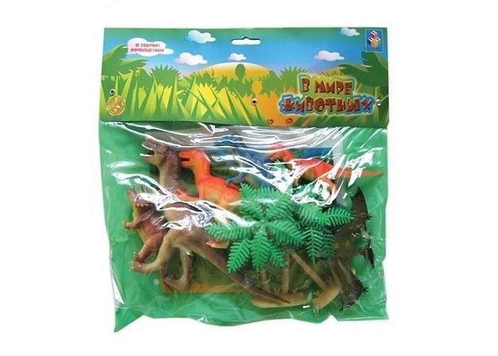 1 Toy Набор фигурок Динозавры 10 шт.Набор фигурок Динозавры 10 шт.1 Toy Набор Динозавры 10 шт. - это замечательный игровой набор, содержащий не только фигурки рептилий, обитающих на земле миллионы лет назад, но и аксессуары. Играя с набором, ребенок получит первое представление о динозаврах, а также научится различать их. Проводя время за игрой, воображение малыша станет более богатым, так как все сюжеты для игры придется придумывать самостоятельно.  Возраст: от 3 лет Комплект: фигурки деревьев и динозавров. Размеры фигурок: от 10 до 21 см.<br>