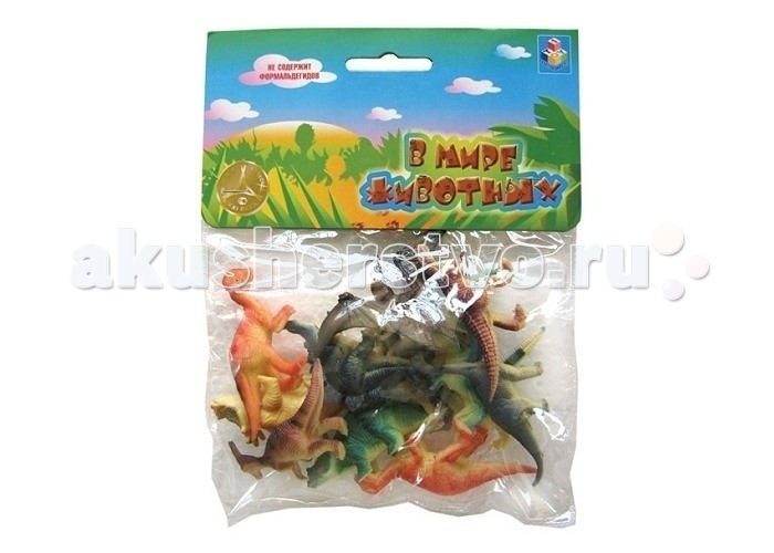 1 Toy Набор фигурок Динозавры 12 шт. 5 см