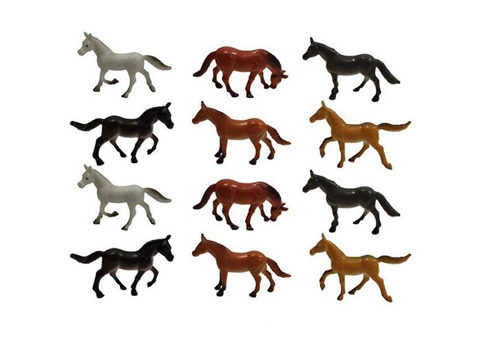 1 Toy Набор  фигурок Лошади 12 шт. 5 см