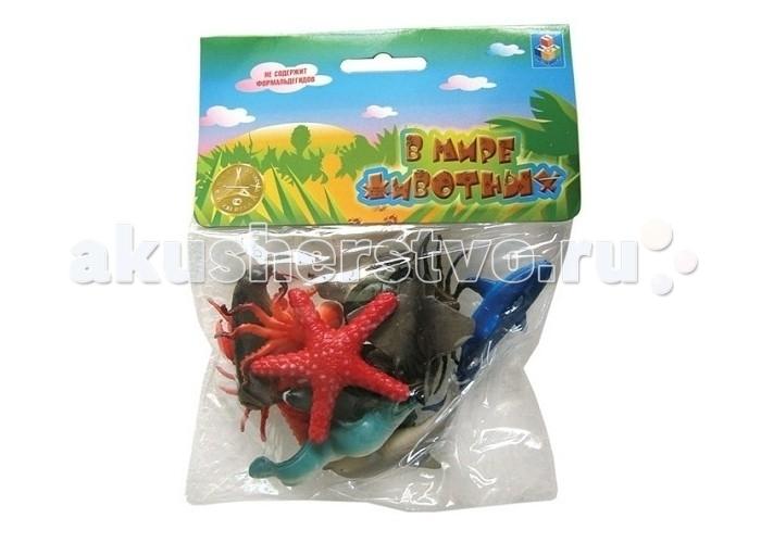 1 Toy Набор фигурок Морские животные 12 шт.