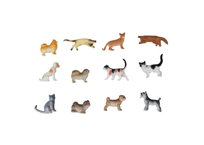 1 Toy Набор фигурок Собаки и кошки 12 шт.Набор фигурок Собаки и кошки 12 шт.1 Toy Набор фигурок Собаки и кошки 12 шт.   Данный набор от 1 Toy содержит в себе целых 12 замечательных фигурок собак и кошек, выполненных с потрясающей детализацией. В комплекте имеются различные породы этих самых любимых домашних питомцев. Все фигурки отличаются разноцветной окраской, что не только разнообразит игровой досуг, но и познакомит ребенка с многообразием представителей семейств кошек и собак.  Возраст: от 3 лет Комплект: фигурки 6 собак, 6 кошек Размеры фигурок: 5 см<br>