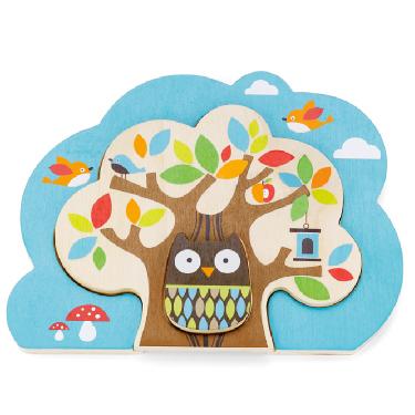 Деревянные игрушки Skip-Hop Пазл Treetop Nesting Tree Puzzle