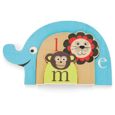Деревянные игрушки Skip-Hop Пазл Alphabet Nesting Animal Puzzle