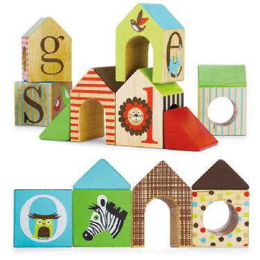 Деревянные игрушки Skip-Hop Кубики Alphabet House Block