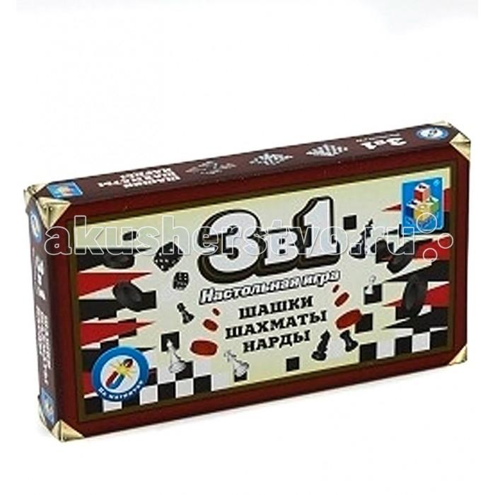 1 Toy Настольные игры 3 в 1 шахматы, шашки и нарды Настольные игры 3 в 1 шахматы, шашки и нарды T52447
