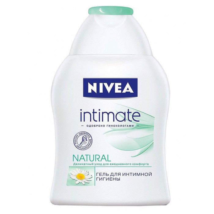 Nivea Гель Intimo Natural для интимной гигиены 250 млГель Intimo Natural для интимной гигиены 250 млГель Nivea Intimo для интимной гигиены специально разработан для ухода за кожей интимных участков тела. Он мягко очищает и гарантирует ощущение свежести в течение всего дня.   Гель для интимной гигиены содержит экстракт ромашки, бисаболол и молочную кислоту. Молочная кислота вырабатывается организмом человека и является основой для поддержания необходимого уровня рН, предотвращая раздражение. Экстракт ромашки и бисаболол оказывают успокаивающее действие. Замедляет развитие некоторых бактерий.  Особенности: Без консервантов. Одобрен гинекологами и дерматологами. Не содержит спирта, щёлочного мыла и красителей. Соответствует естественному уровню pH кожи интимных участков тела. Подходит для ежедневного использования.  Nivea является одной из ведущих мировых компаний в области средств по уходу за кожей. Nivea заботится о потребителях, предлагая им совершенные и инновационные продукты. В исследовательском центре компании работает более 150 специалистов в области дерматологии и косметологии, фармакологии и химии. Косметическая продукция совершенствуется благодаря регулярным лабораторным исследованиям и многочисленным тестам.<br>