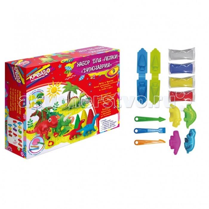 Креатто Набор пластилина для лепки Динозаврия 28550