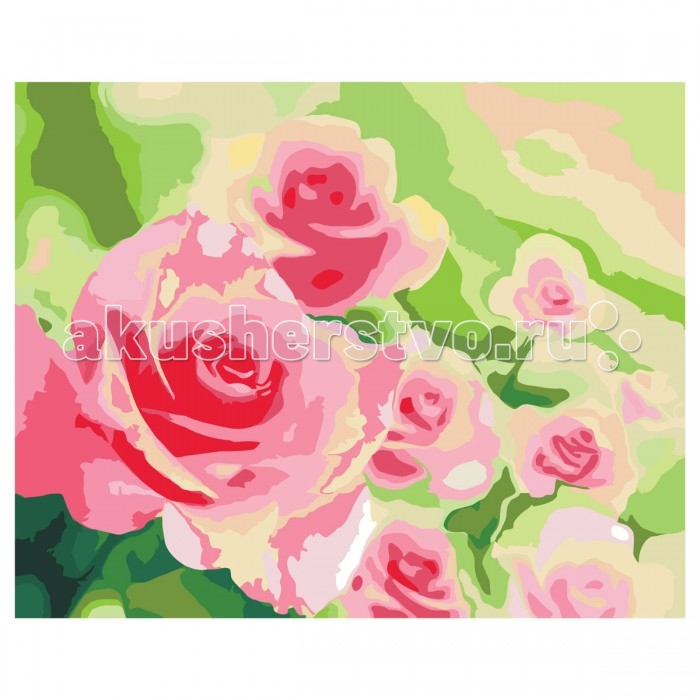 Креатто Роспись холста по номерам Розы в саду