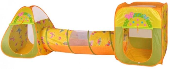 Палатки-домики BabyOne Игровая палатка Бабочки с туннелем CBH-24 + 100 шаров