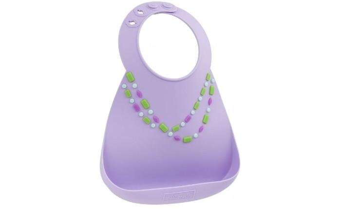 Нагрудник Make my day Baby Bib Lilac JewelsBaby Bib Lilac JewelsНагрудник Baby Bib  Детский нагрудник из нежнейшего силикона.   Имеет специальный кармашек, предотвращающий падение пищи на пол или на одежду малыша, и регулируемую застежку, позволяющую увеличивать ширину горловины по мере роста ребенка.   Подходит для детей от 6 месяцев до 3 лет.   Нагрудник можно быть в посудомоечной машине.   Не сковывает движения малыша.<br>