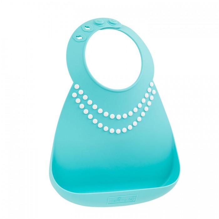 Нагрудник Make my day Baby Bib Tiffany Blue Pearls
