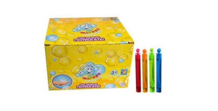 1 Toy Мыльные пузыри Мы-шарики нелопающиеся колба 10 см 5 мл