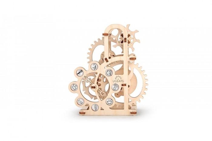 Конструктор Ugears 3D-Пазл Силомер 48 деталей3D-Пазл Силомер 48 деталейКонструктор 3D-Пазл Ugears Прицеп к трактору – это деревянный механический конструктор для самостоятельной сборки. Отличный подарок для юного техника и занимательный аксессуар на рабочий стол.  Характеристики: Материал: фанера (ФК) Размеры упаковки: 350 &#215; 165 &#215; 10 мм Размеры модели: 147 &#215; 170 &#215; 72 мм Количество частей: 48  ЧТО ЭТО? Силомер – это механический конструктор от компании Ugears, из которого пользователю предстоит самостоятельно собрать ветряк-динамометр. При помощи стрелки и циферблата с шуточными пиктограммами устройство покажет, сколько сил накопилось в ваших лёгких. Соревнуйтесь с друзьями и тренируйте собственное дыхание.  Производитель называет Силомер одной из самых простых моделей в серии, при этом он станет полезным и вдохновляющим пособием для юного техника. Его обнажённый часовой механизм позволяет отследить движение каждой шестерни, а самым опытным – разобраться в принципе работы «мальтийского механизма», который преобразует равномерное вращательное движение в прерывистое. Аналогичный механизм используется в часах, станках и кинокамерах для протяжки плёнки.  Силомер порадует как ребёнка, так и его родителя. Игрушка станет хорошим подарком в качестве настольного аксессуара. Она будет стоять особняком от канцелярии и компьютерной техники, привлекая взгляд архаичным видом и естественной фактурой светлой древесины. Редкий гость устоит перед соблазном узнать, как работает этот механизм.  ДИЗАЙН Устройство представляет собой не что иное, как кинетическую скульптуру в виде оголённого часового механизма. Вы сможете проследить каждое движение в механизме от привода до конечных узлов. Поверхности сохранили приятную фактуру древесного спила, а фронтальная стойка на одной из дуг несёт логотип производителя, выжженный лазером.  Всё детали вырезаны из качественной фанеры при помощи программируемого лазерного станка. Благодаря этому пользователь избавлен от дополнительн