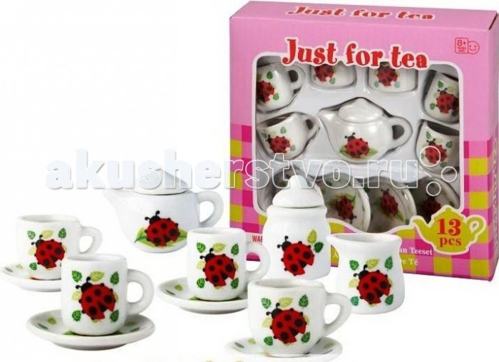 1 Toy Я сама Чайный сервиз Божьи Коровки 13 предметов