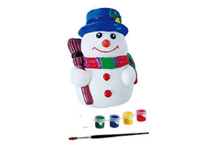 Бумбарам Копилка СнеговикКопилка СнеговикБумбарам Копилка Снеговик DIY036  Отличный новогодний сувенир - это копилка в форме снеговика. Раскрасьте его, и он с удовольствием будет хранить внутри монетки.   Набор для творчества - копилка, краски и кисточка в красочной коробке с европодвесом.   Все копилки в этой серии: - не бьются (безопасны для детей) - приятные на ощупь - легко раскрашивать - открываются снизу, копилки не надо разбивать, чтобы достать накопления   В комплекте: копилка, краски 4 цветов, кисточка.   Информация на упаковке - на русском языке Упаковка: цветная картонная коробка Размер упаковки: 11х11,5х 8 см<br>