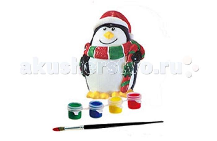 Раскраска Бумбарам Копилка ПингвинКопилка ПингвинБумбарам Копилка Пингвин DIY037  Симпатичный пингвин в шарфике - посланник деда мороза. Дарите копилку с пожеланиями счастливого Нового года!   Набор для творчества - копилка, краски и кисточка в красочной коробке с европодвесом.   Все копилки в этой серии: - не бьются (безопасны для детей) - приятные на ощупь - легко раскрашивать - открываются снизу, копилки не надо разбивать, чтобы достать накопления   В комплекте: копилка, краски 4 цветов, кисточка.   Информация на упаковке - на русском языке Упаковка: цветная картонная коробка Размер упаковки: 11х11,5х 8 см<br>