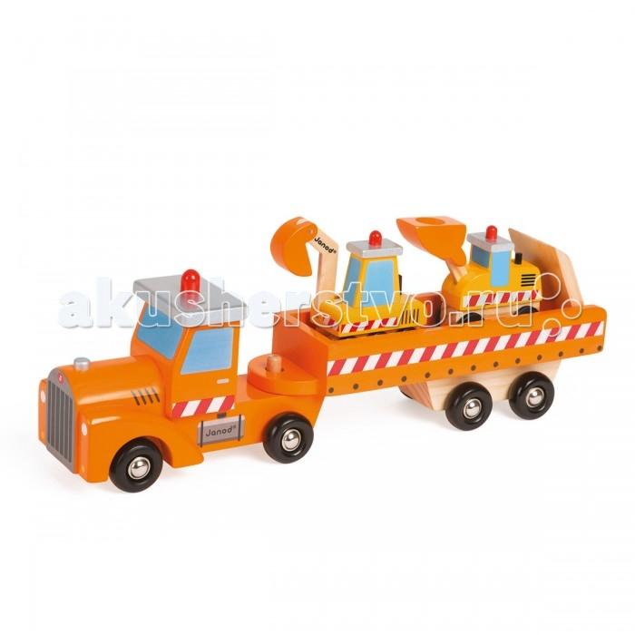 Janod Автовоз и 2 бульдозераАвтовоз и 2 бульдозераАвтовоз и 2 бульдозера  Внимание! Стройка! Деревянный автовоз и 2 бульдозера помогу с ознакомлением Вашего малыша с различной спецтехникой, а может станут прекрасным дополнением к уже существующей коллекции качественных развивающих деревянных игрушек от французского бренда Janod.<br>