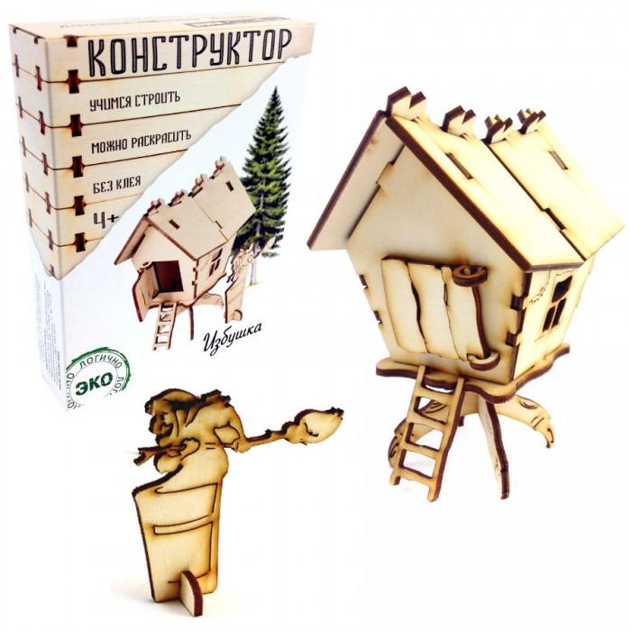 Конструктор Model Toys Избушка деревянныйИзбушка деревянныйModel Toys Деревянный конструктор Избушка Dom-6  Конструктор из дерева - избушка Бабы Яги с открывающейся дверью. В комплекте - избушка с лестницей  фигурка Бабы Яги. Конструктор собирается без клея. Собранную модель можно раскрасить карандашами, красками или фломастерами.    Упаковка: цветная картонная коробка в эко-стиле. Размер упаковки: 16х12х4 см  Производство: Россия   Конструкторы марки Model toys - это качественные игрушки из дерева, которые с любовью сделаны в России.<br>