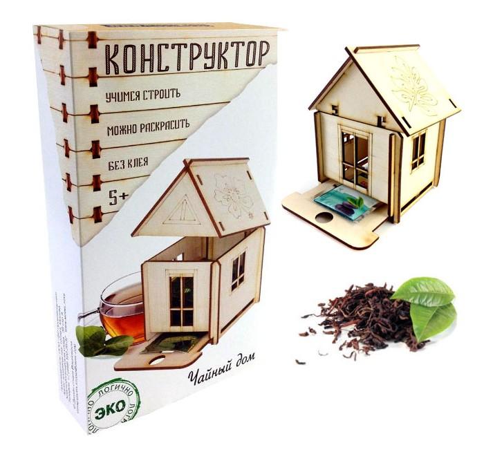 Конструктор Model Toys Чайный дом деревянныйЧайный дом деревянныйModel Toys Деревянный конструктор Чайный дом Dom-7  Конструктор из дерева - чайный домик. Внутрь домика закладываются пакетики с чаем, а нижний механизм выдает пакетики поштучно. Конструктор собирается без клея. Собранную модель можно раскрасить карандашами, красками или фломастерами.  Прекрасный выбор маме или бабушке!   Упаковка: цветная картонная коробка в эко-стиле. Размер упаковки: 20х12х4 см  Производство: Россия   Конструкторы марки Model toys - это качественные игрушки из дерева, которые с любовью сделаны в России.<br>