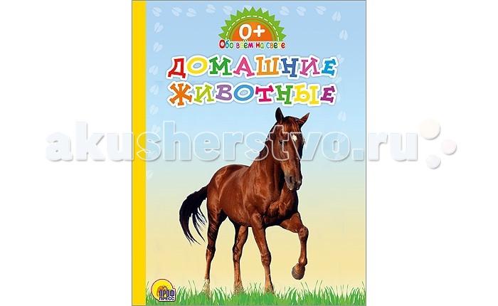 Проф-Пресс Книжка-картонка Обо всем на свете Домашние животные