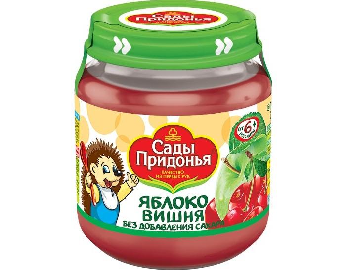 Сады Придонья Пюре Яблоко-вишня с 6 мес., 120 г