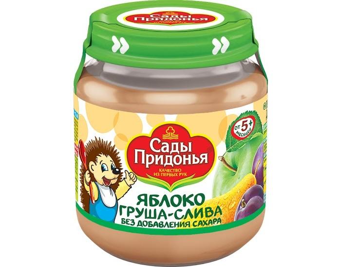Сады Придонья Пюре Яблоко-груша-слива с 5 мес., 120 г