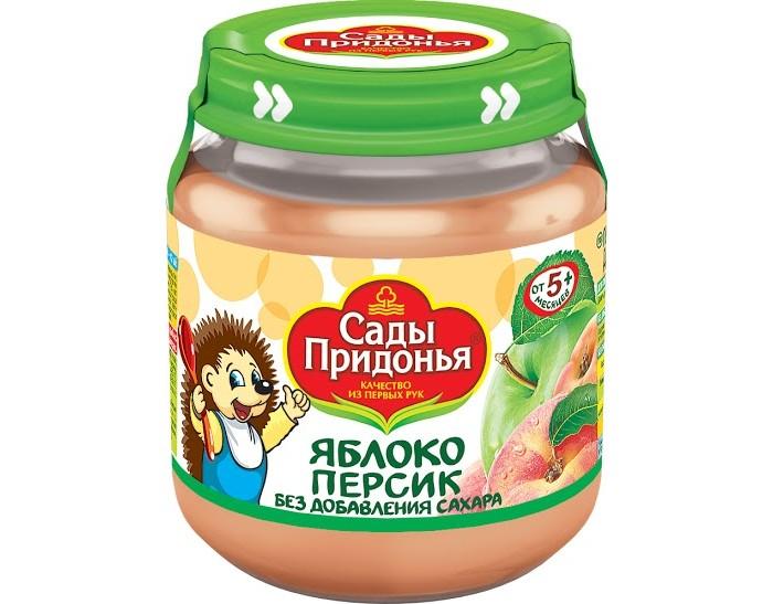 Сады Придонья Пюре Яблоко-персик с 5 мес., 120 г