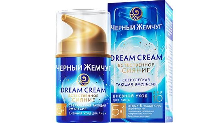 Черный жемчуг Эмульсия для лица 50 млЭмульсия для лица 50 млЭмульсия для лица 50 мл  Дневная эмульсия Dream Cream легко распределяется, быстро впитывается и позволяет дышать коже без утяжеления.   Сверхлегкая тающая эмульсия не только ухаживает за кожей, но и обеспечивает ей надежную защиту от солнца на уровне SPF 10 благодаря входящим в состав средства UV(УФ)-фильтрам.   С каждым днём ваше кожа будет становиться всё более совершенной, и вы не сможете это не заметить.<br>