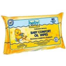 Babyline Масляные Комфорт 80 шт.Масляные Комфорт 80 шт.Масляные салфетки Baby Line Комфорт идеальны для нежной и тщательной очистки в области подгузников. Натуральное масло жожоба ухаживает за кожей, предохраняя ее от высыхания. Масляные салфетки без красителей и pH-нейтральны, их можно брать с собой в путешествие и на прогулку.<br>