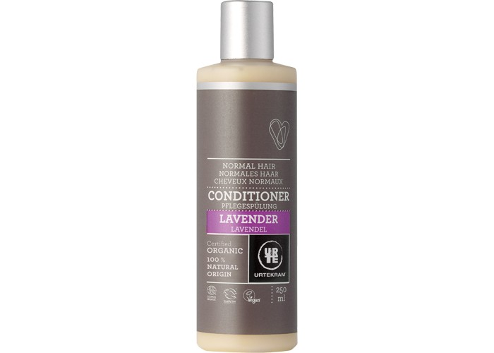 Urtekram Кондиционер для волос Лаванда 250 млКондиционер для волос Лаванда 250 млКондиционер для волос Лаванда 250 мл - органический кондиционер для нормальных волос с экстрактом и эфирным маслом лаванды. Алое вера, лецитин и растительный глицерин поддерживают здоровье ваших волос, придадут им легкость и облегчат укладку.   Сертифицировано ECOCERT Greenlife в соответствии с COSMOS ORGANIC.  100% натуральных компонентов.<br>