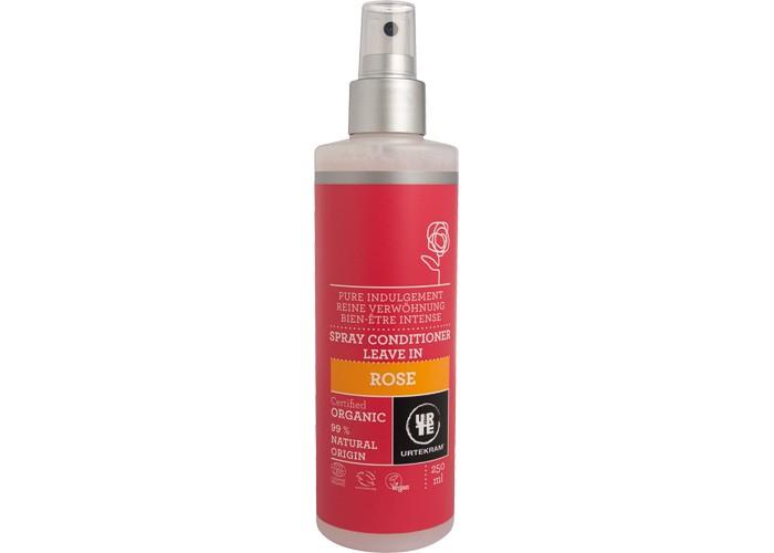 Urtekram Спрей-кондиционер для волос Роза 250 млСпрей-кондиционер для волос Роза 250 млСпрей-кондиционер для волос Роза 250 мл - органический несмываемый спрей-кондиционер с гиалуроновой кислотой поддерживает естественный баланс влаги и предотвращает иссушение волос. Помогает распутать и разгладить волосы и облегчает укладку.    Сертифицировано ECOCERT Greenlife в соответствии с COSMOS ORGANIC.                                  99% натуральных компонентов.<br>