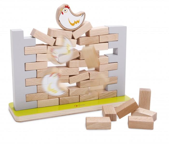 Деревянная игрушка Classic World Игра СтенаИгра СтенаИгра Стена   Веселая логическая игра «Стена» - одновременно простая и заставляющая ребенка думать.  1. Развивать умственные способности ребенка нужно как можно раньше.  2. Вам в этом поможет логическая игра «Стена» 3. Логическая игра Стена станет прекрасным средством для развития не только логики, но и моторики пальцев, внимания и скорости мышления.  4. Суть игры заключается в том, чтобы как можно дольше не давать курочке упасть, вытаскивая кирпичики.<br>