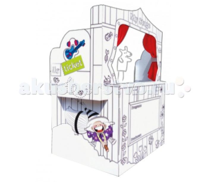 Игровой домик Kids4kids Кукольный театр Большой Картонный домик